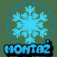 płatek śniegu z napisem montaż