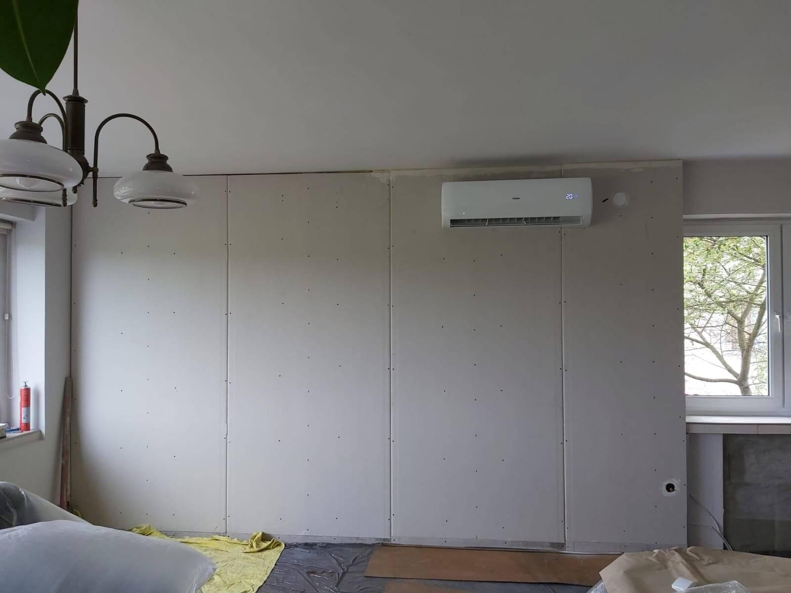 Zamontowana klimatyzacja ścienna
