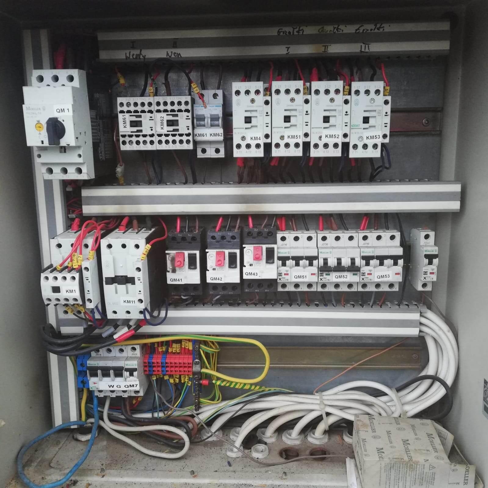 skrzynka elektryczna z bezpiecznikami