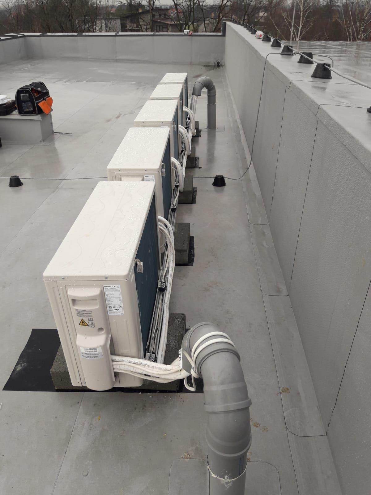 Klimatyzacja - dach budynku